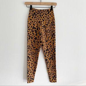 Booty By Brabants Brown Cheetah Print Leggings OS